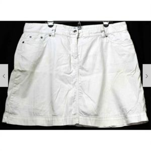 croft & barrow Shorts - Croft & Barrow White Skorts Women Sz 18 White Stri